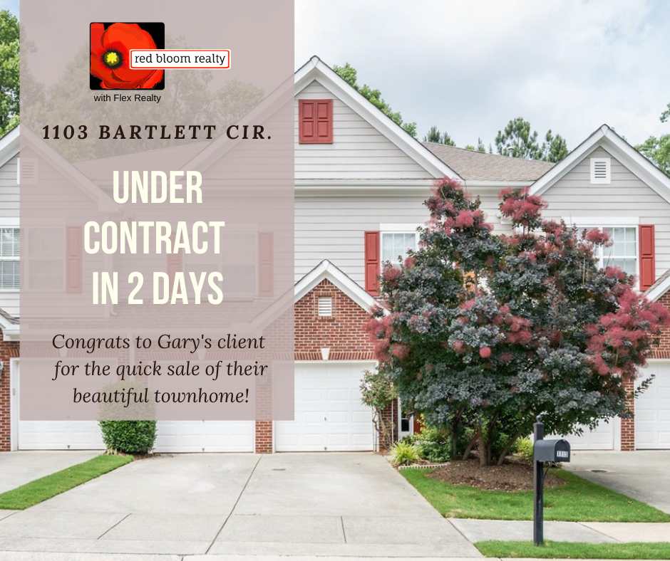 Under contract in 2 days 1103 Bartlett